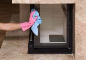 Clean your marble fireplace